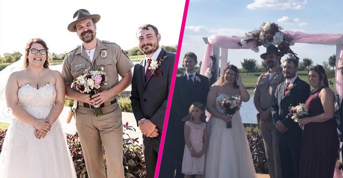 Jim Hopper ofició la boda de una pareja de fans de Stranger Things 😍