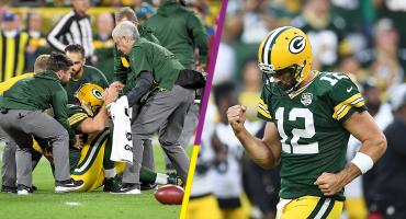 Aaron Rodgers, de la lesión que prendió alarmas a héroe de los Packers