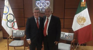 ¡Jonrón! Prometen a AMLO respaldar el béisbol en los Juegos Olímpicos