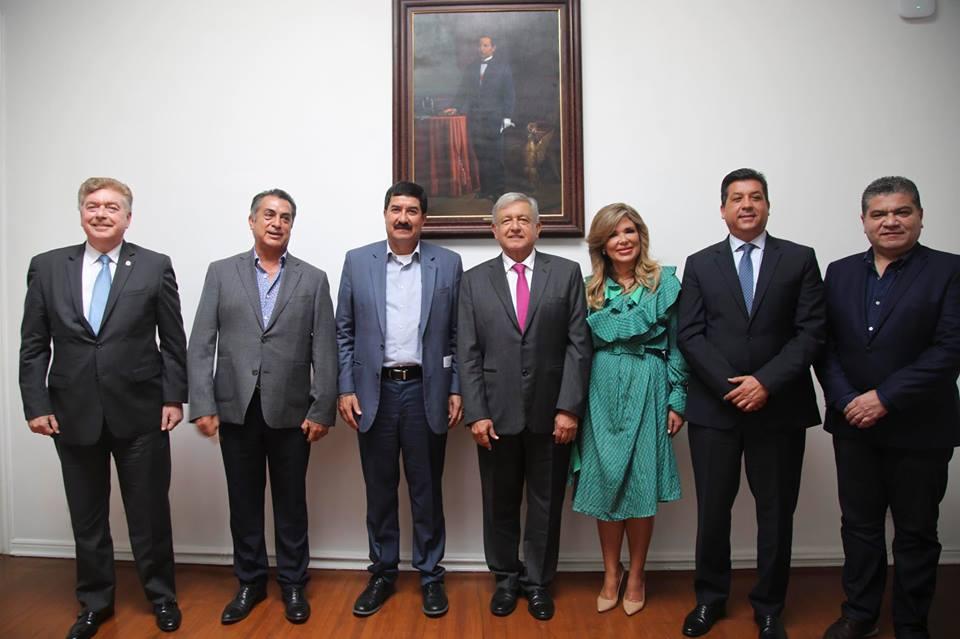 AMLO y los gobernadores del norte del país