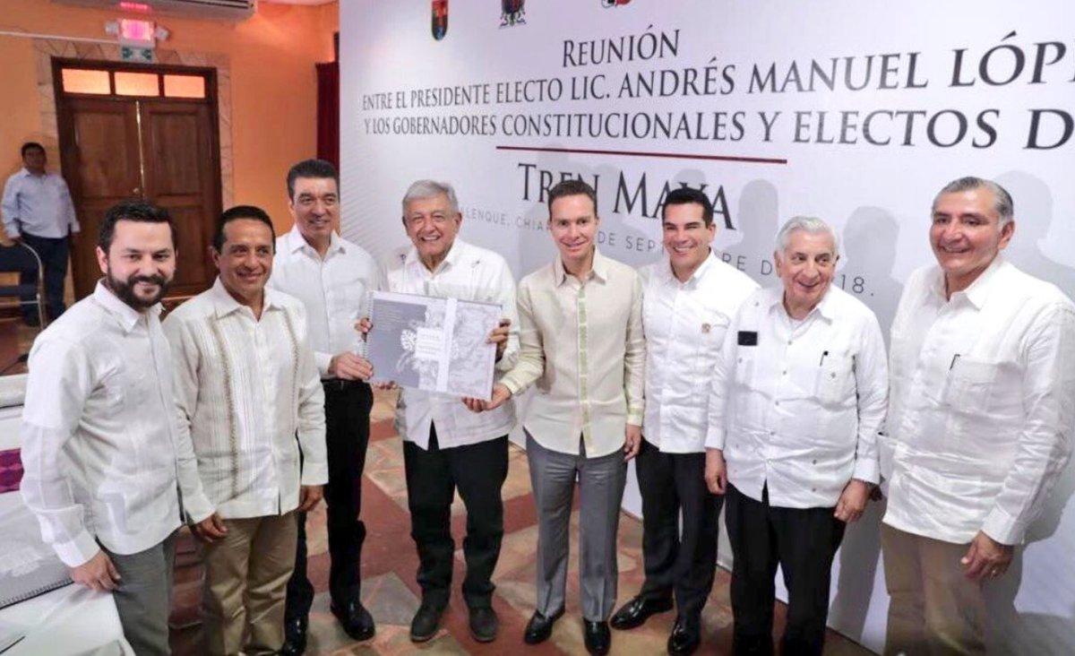 Gobernadores-AMLO, Tren maya