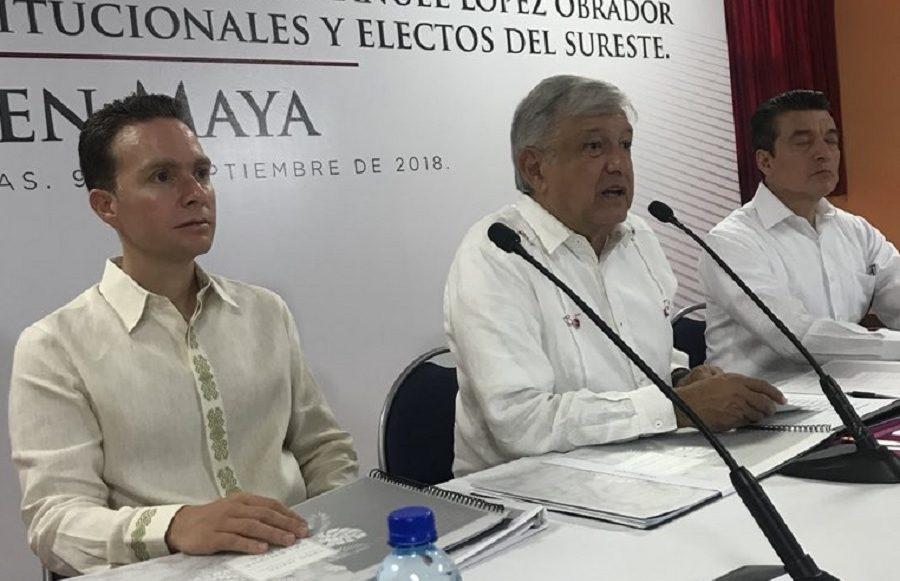 AMLO y Manuel Velasco / Tren Maya