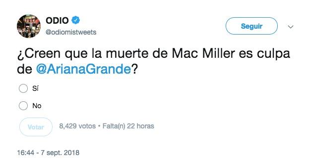 Malditos trolls: Culpan a Ariana Grande por la muerte de Mac Miller