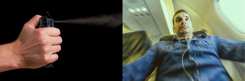 Spray de pimienta y foto causan pánico en un avión