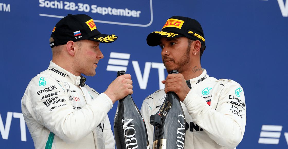 ¡Uy, así que chiste! Bottas le cedió el triunfo a Hamilton en el GP de Rusia