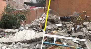 Cae una barda en la Roma Norte, CDMX; se registra una mujer lesionada