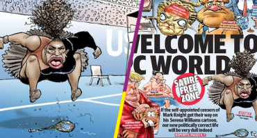 Caricatura de Serena Williams que encendió polémica sexista vuelve a ser publicada