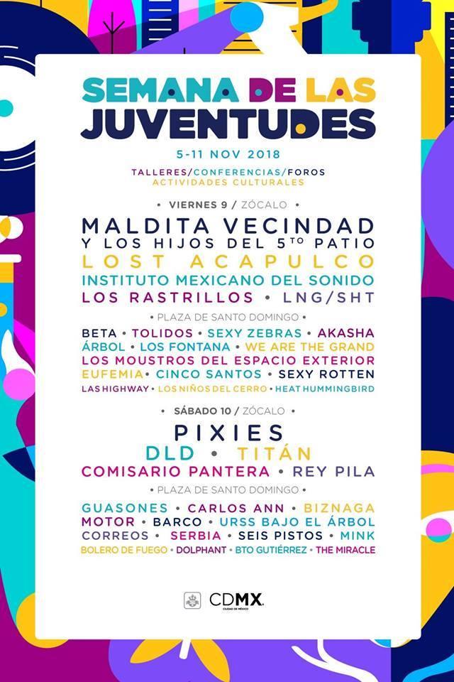 Â¡Pixies encabeza el line up de la Semana de las Juventudes!