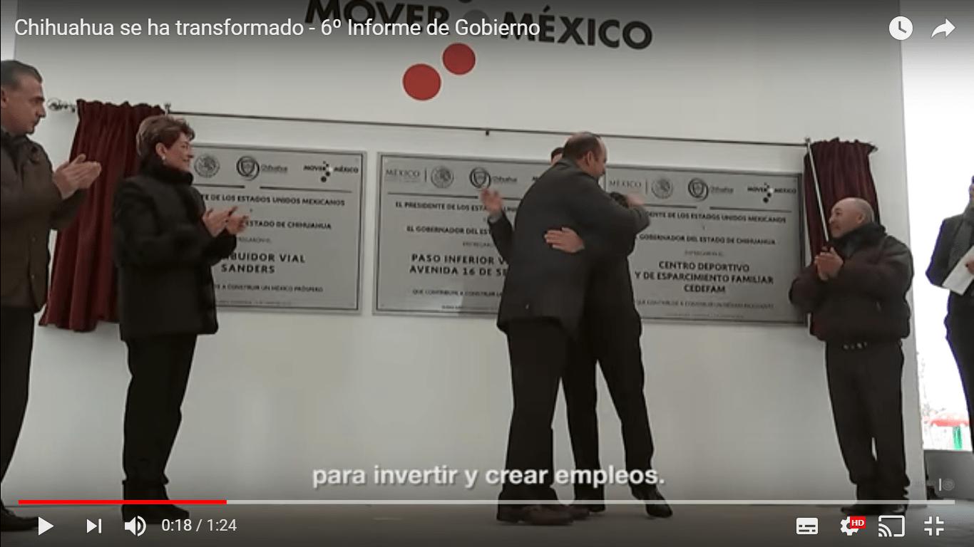 Imagen del spot Chihuahua, 6o informe de Gobierno