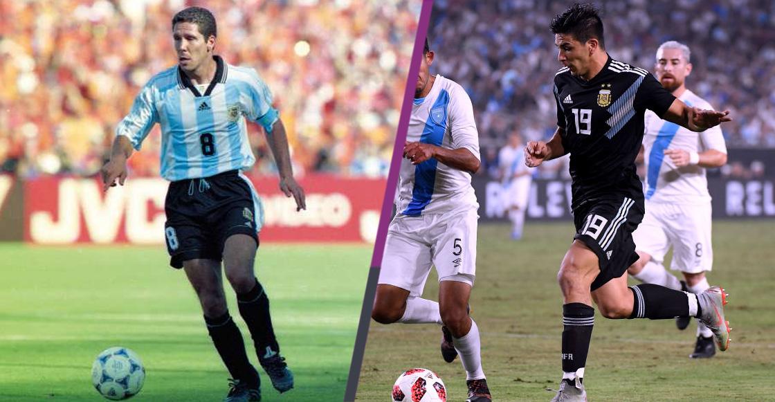 'Cholo' y Giovanni Simeone, segunda dupla padre-hijo en marcar con Argentina