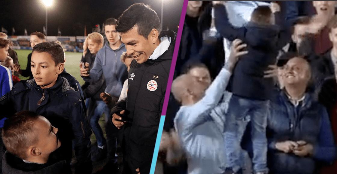 El gran detalle de Chucky Lozano con un niños tras la goleada en la Copa