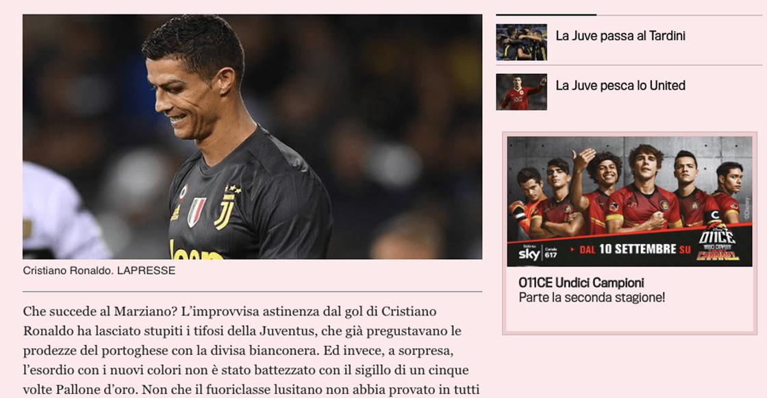 ¿Por qué Cristiano Ronaldo no ha podido marcar gol con la Juventus?