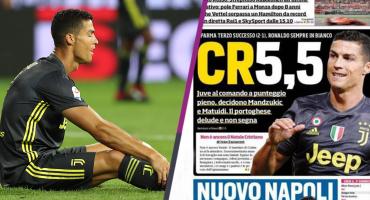 CR5.5, esta es la primera crítica a Cristiano Ronaldo en Italia
