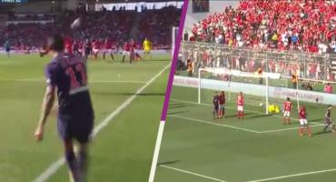Ángel Di María se luce con un gol olímpico en el triunfo del PSG