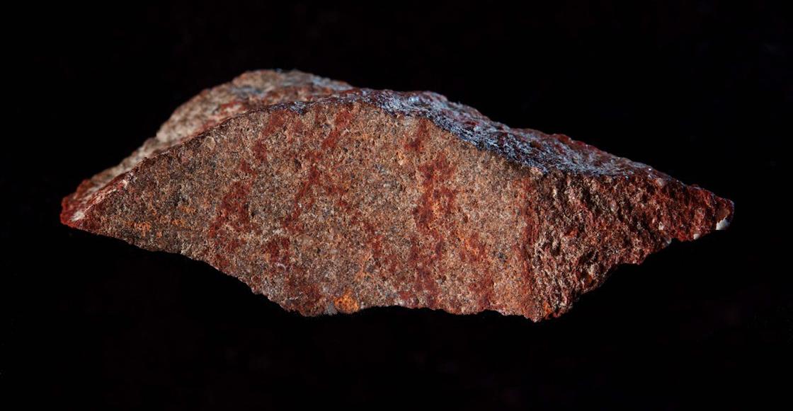 Descubren en Sudáfrica el dibujo a lápiz más antiguo de la historia