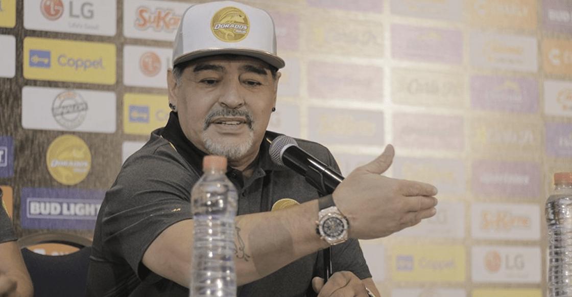 Las mejores imágenes de la presentación de Maradona con Dorados de Sinaloa