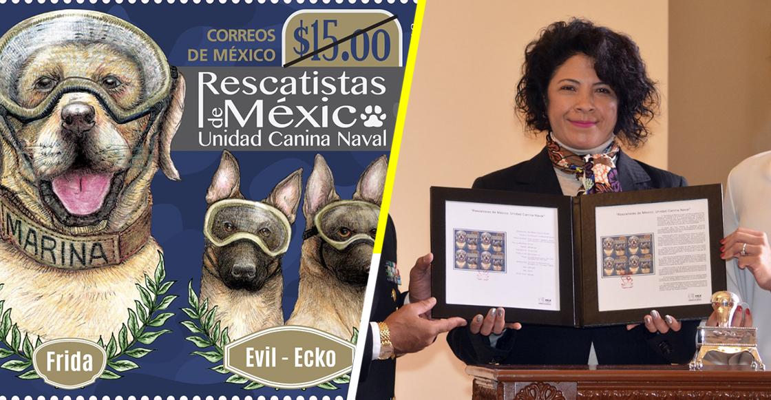 Ya hay una estampilla postal en honor a los perros rescatistas del 19-S