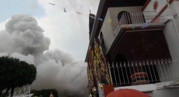 Explota pirotecnia en fiesta patronal de Coyoacán y deja 4 heridos