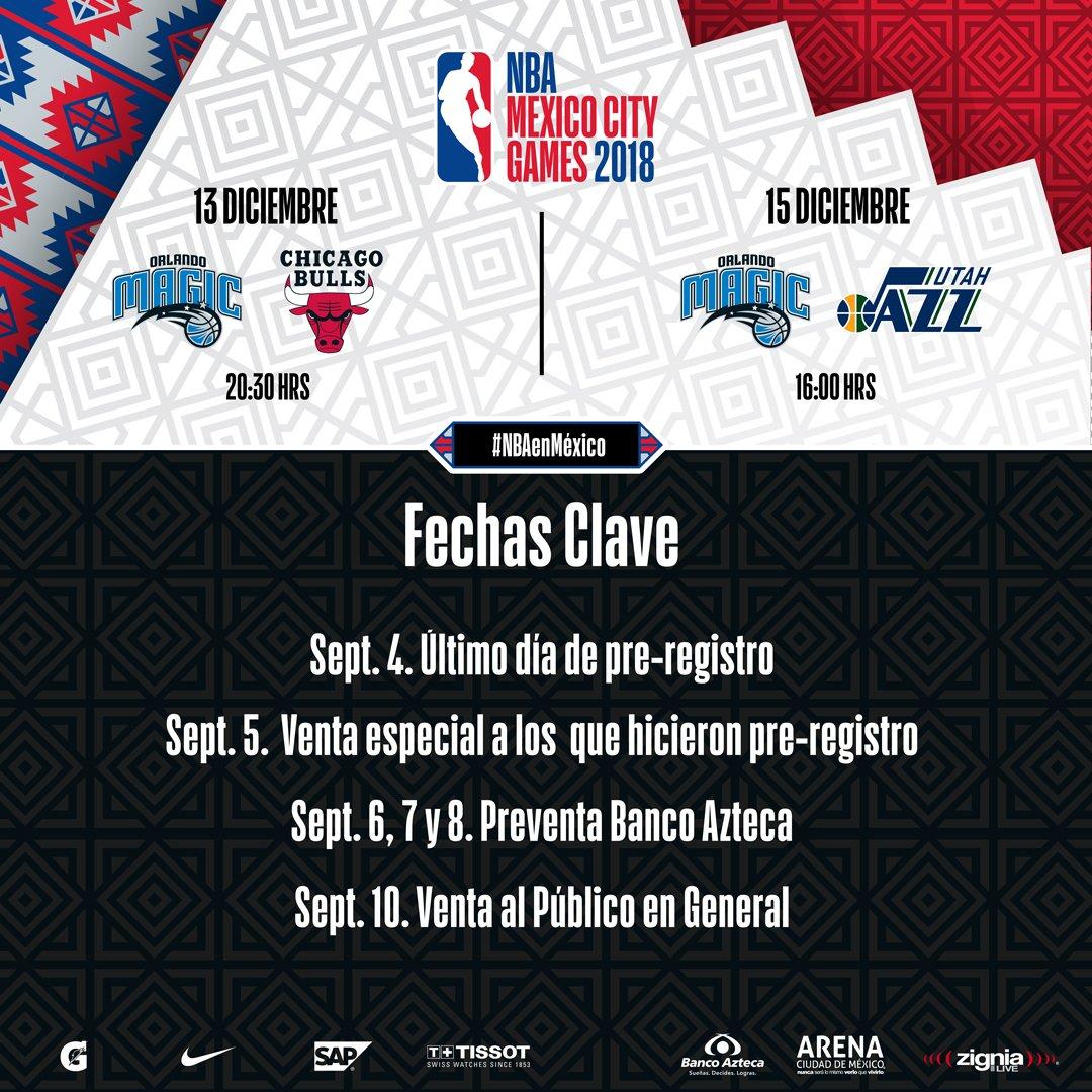 Dan a conocer fechas y precios para la NBA en México