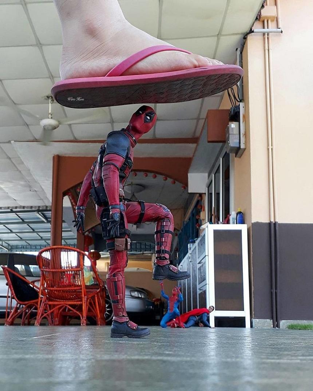 Fotos con figuras de Superhéroes - Deadpool