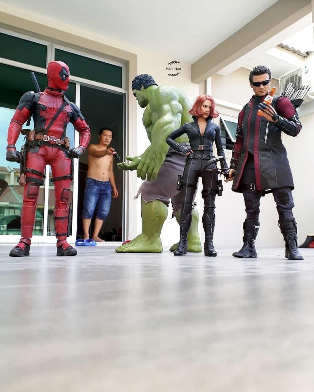 Fotos con figuras de Superhéroes - Avengers