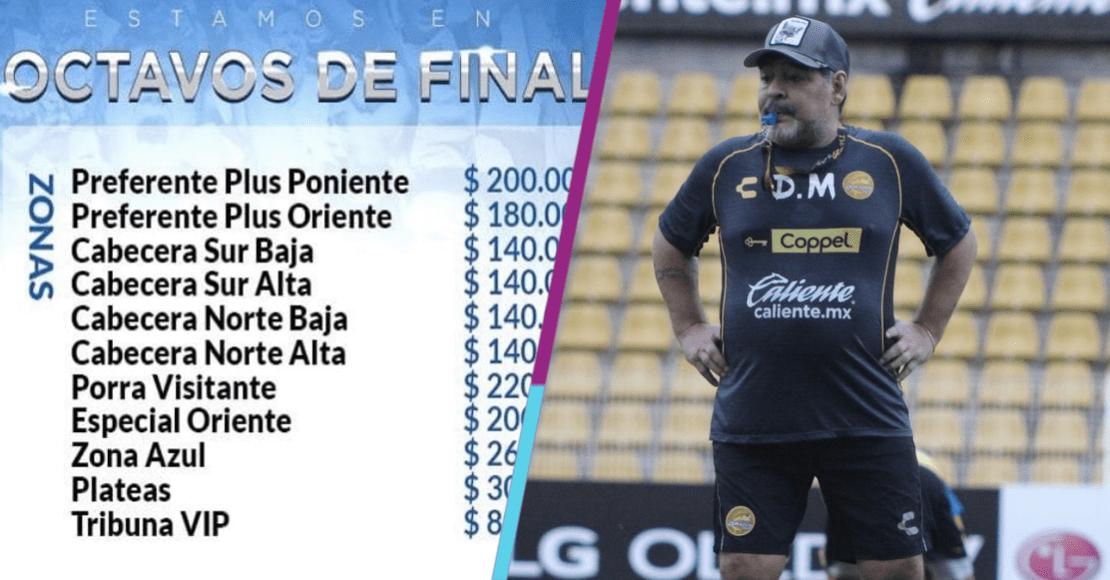 ¡No le pierden! Gallos aumenta costo de boletos por visita de Maradona