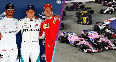 ¡Se viene un agarrón en F1! Mercedes vuelve a encerrar a los Ferrari y Checo quedó detrás de OcOn
