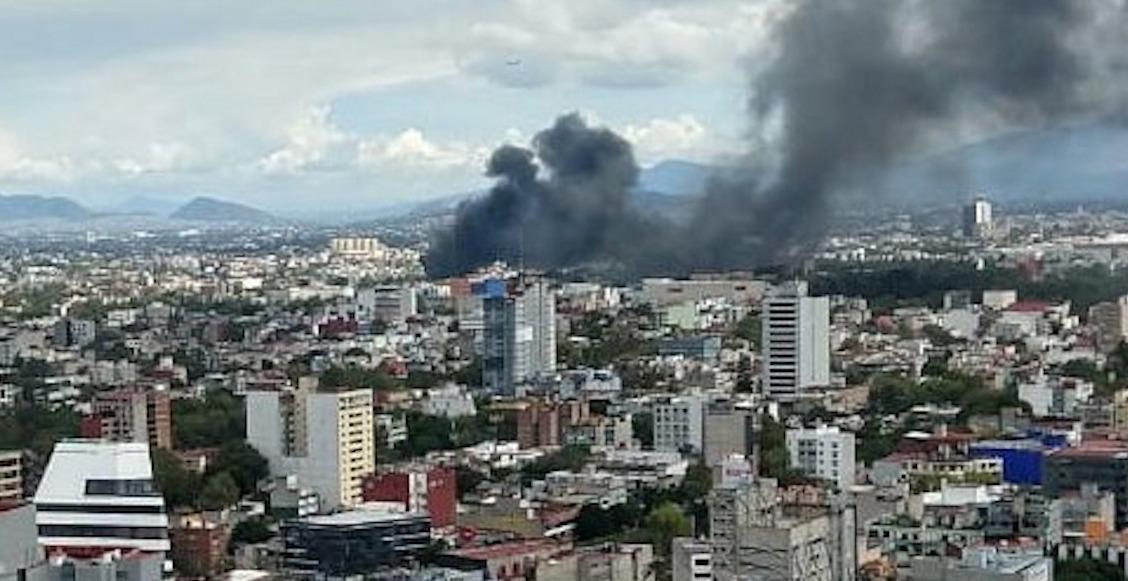 Se registra fuerte incendio en la colonia Doctores, en CDMX