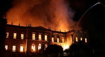 Incendio consume el Museo Nacional de Río de Janeiro, en Brasil