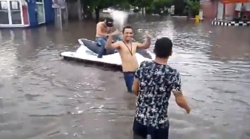 Inundación en Los Mochis