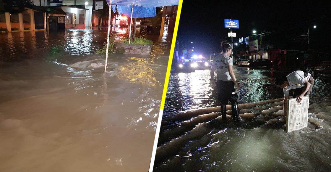 Inundaciones en Jojutla, Morelos, por el desborde de canales de riego