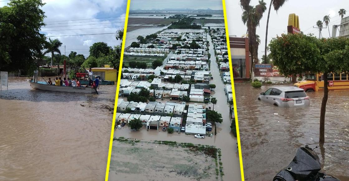 ¿Y la ayuda apá? Sinaloa está bajo el agua por las fuertes lluvias