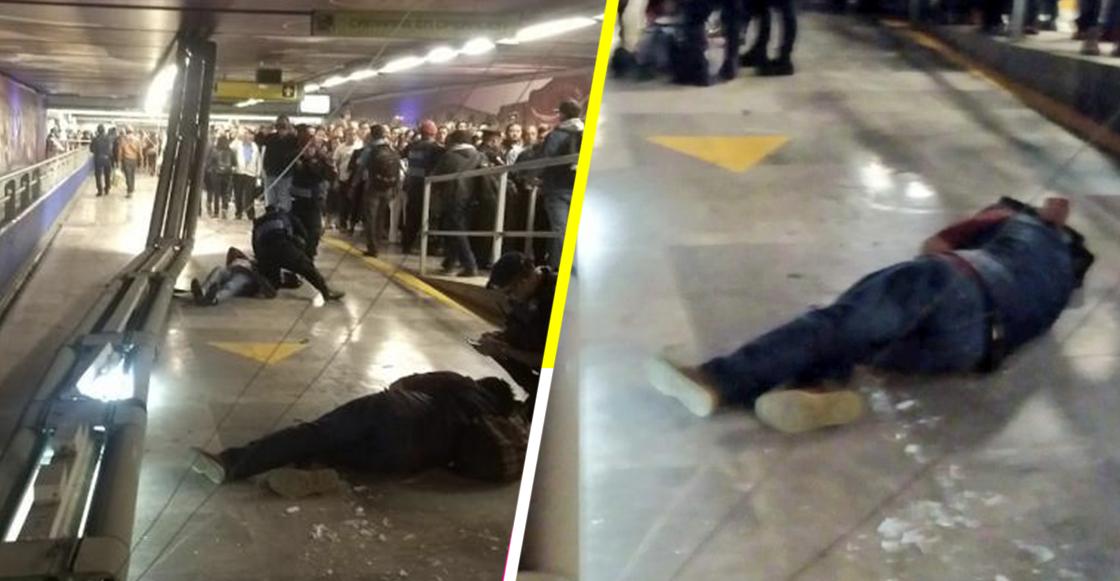 Lámparas en metro Garibaldi-Lagunilla se caen y lesionan a dos personas