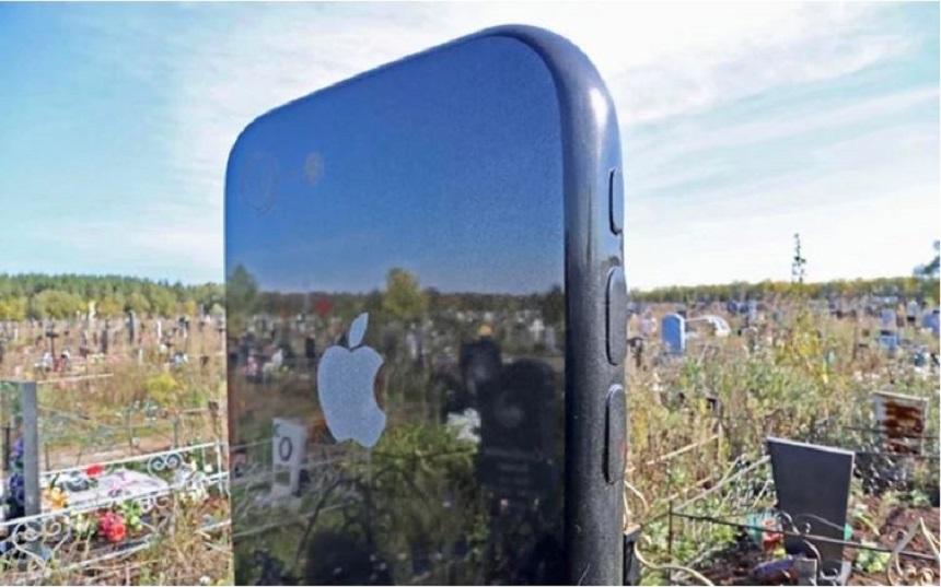 La historia detrás de la misteriosa lápida en forma de iPhone