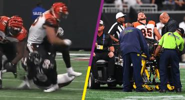La escalofriante lesión de Tyler Eifert en el triunfo de los Cincinnati Bengals