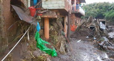 Michoacán: lluvias ocasionan desbordamiento de río; un muerto y 12 desaparecidos
