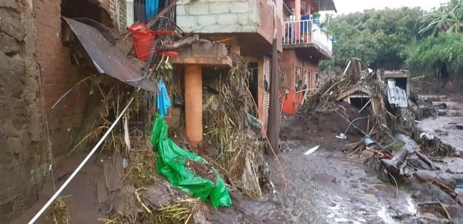 Afectaciones en Michoacán pro las intensas lluvias.