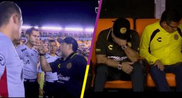 ¡No la hagan de a pez! Primera derrota de Maradona termina en un conato de bronca