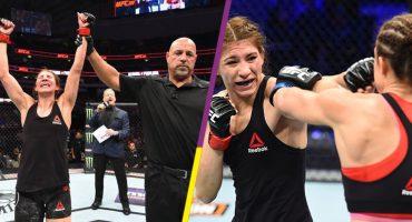 Mexicana Irene Aldana consigue triunfo en UFC 228 tras una batalla sangrienta