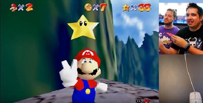 Terminar Mario 64 con el mouse de Nintendo
