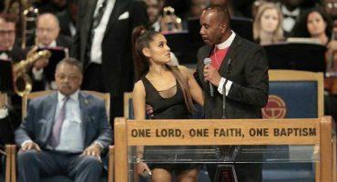 Obispo del funeral de Aretha Franklin se disculpa por acosar a Ariana Grande