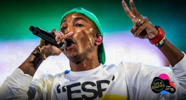We're gonna climb your walls: Pharrell critica al gobierno de EU en el show de N.E.R.D