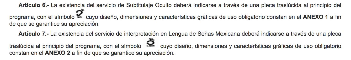 Lenguaje de Señas y Subtítulos Ocultos