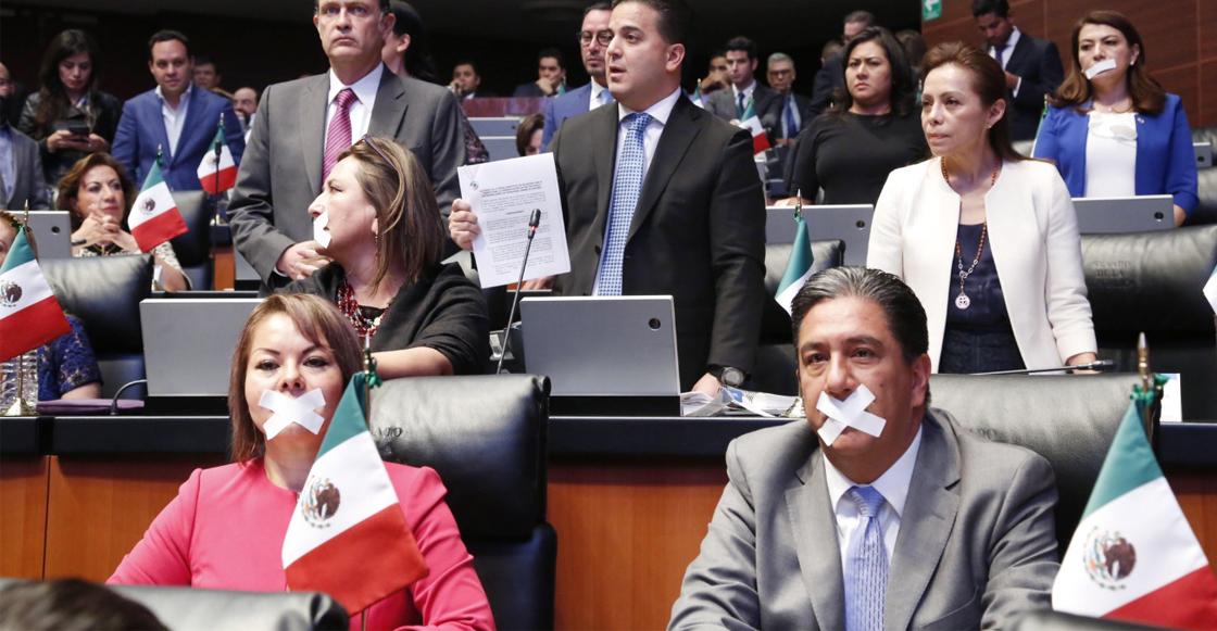 Senadores del PRI y PAN abandonaron la sesión en protesta #NoAlAcuerdoMordaza