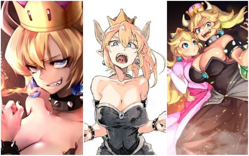 Princess Bowser - Fan arts