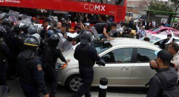 Protesta de comerciantes de Tepito termina en enfrentamiento con policías