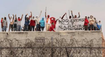 Reos protestan en el Penal de Topo Chico por cobro de cuotas