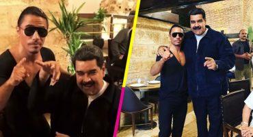 Y mientras Venezuela sufre crisis… Maduro se refina banquete con el chef Salt Bae