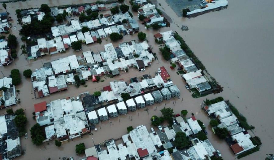 Inundaciones por lluvias en Sinaloa