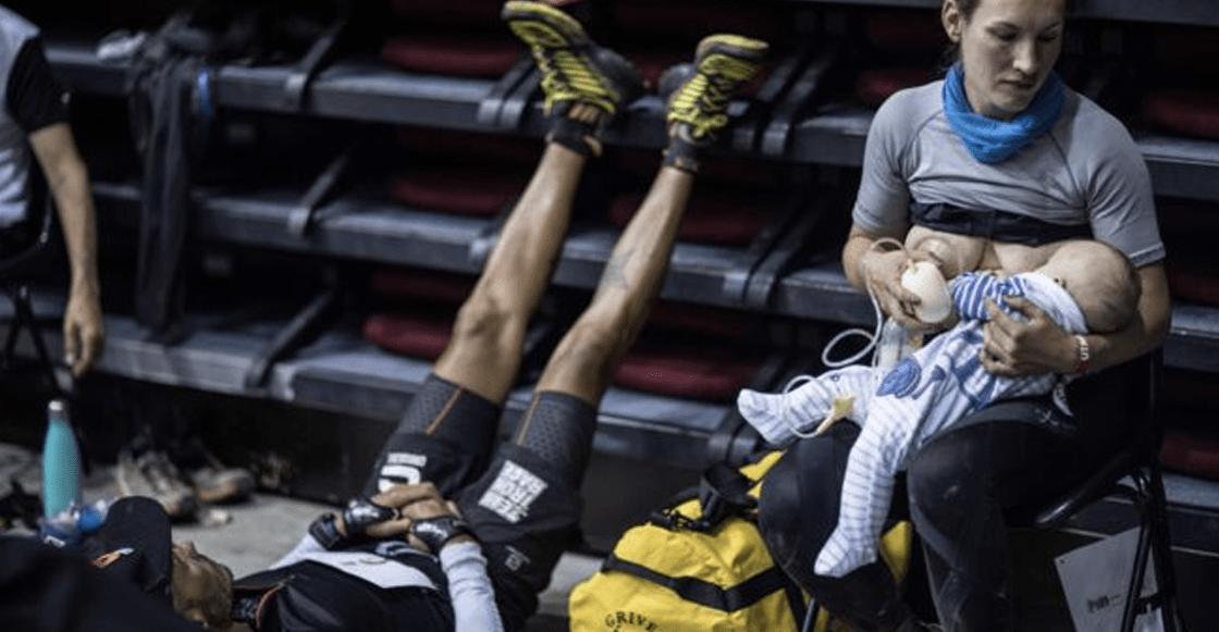 ¡Wow! Ultramaratonista amamantó a su bebé en plena carrera